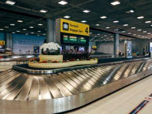 空港内はガラガラ